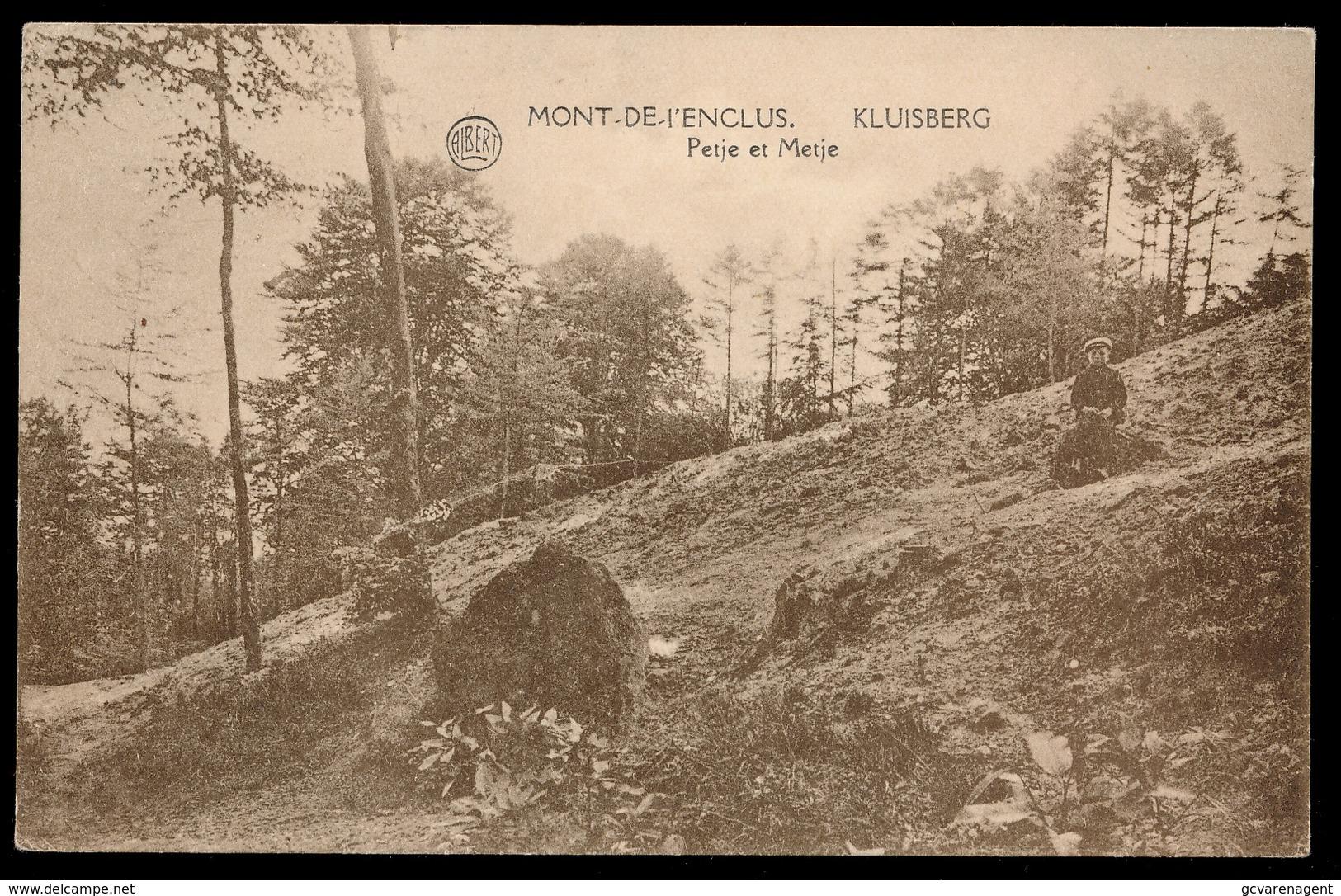 MONT DE L'ENCLUS  -- PETJE EN METJE - Kluisbergen