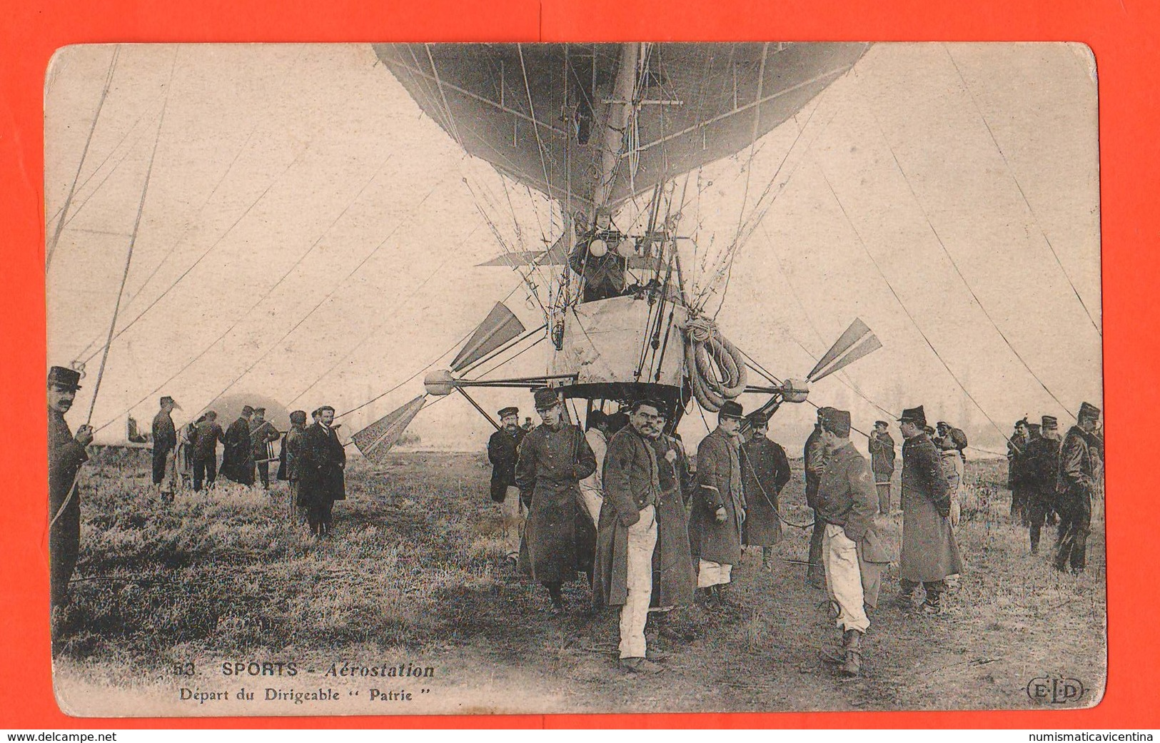 Dirigibili Dirigeables PATRIE Depart 1907 Verdun Aerostation Aviazione - Dirigibili