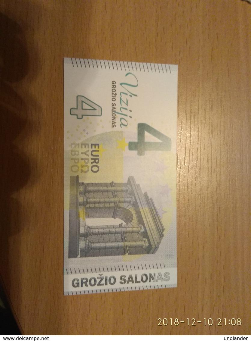 LITHUANIA 4 EURO Discount Coupon For Haircut At Vizija, UNC - Lituania