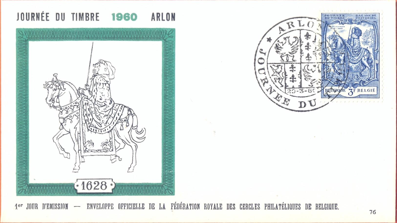 Belgium BELGIUM FDC 20/03/1960 COB 1121 JOURNEE DU TIMBRE DAG VAN DE POSTZEGEL  Fine Cancel Arlon - FDC