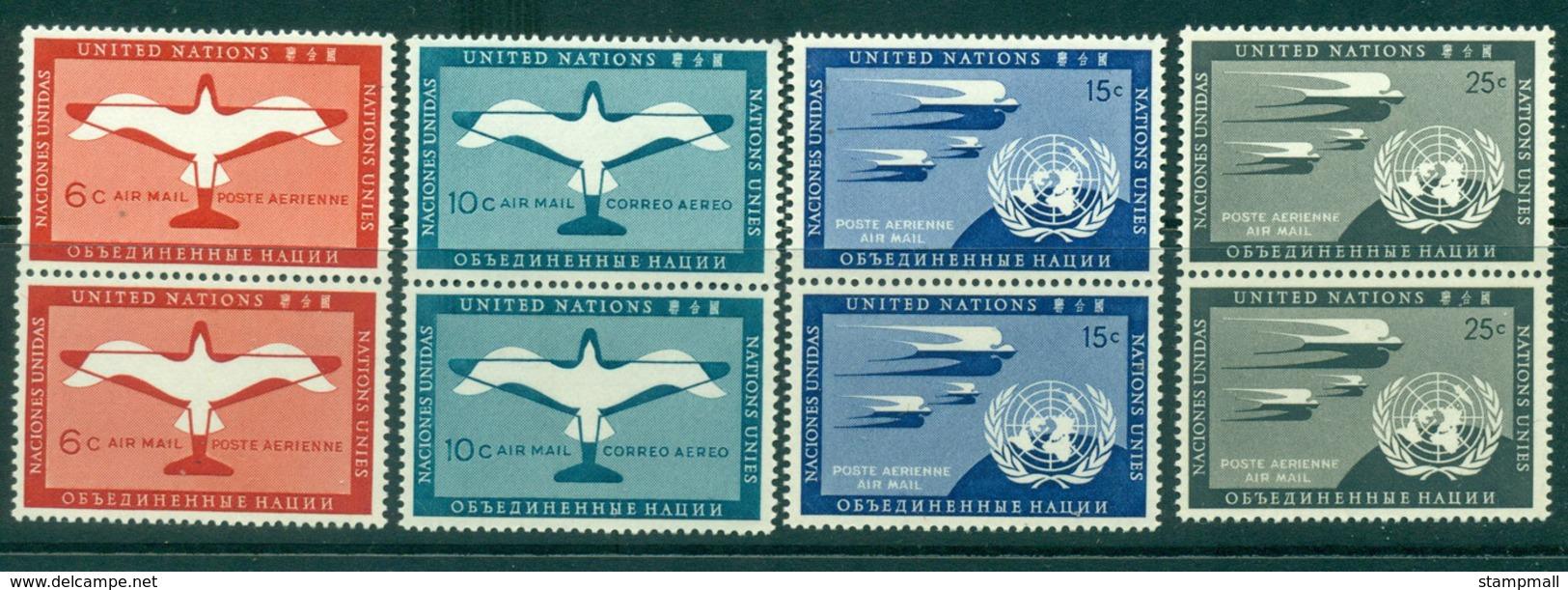 UN New York 1951 Air Mail Pairs MUH Lot40853 - Ungebraucht