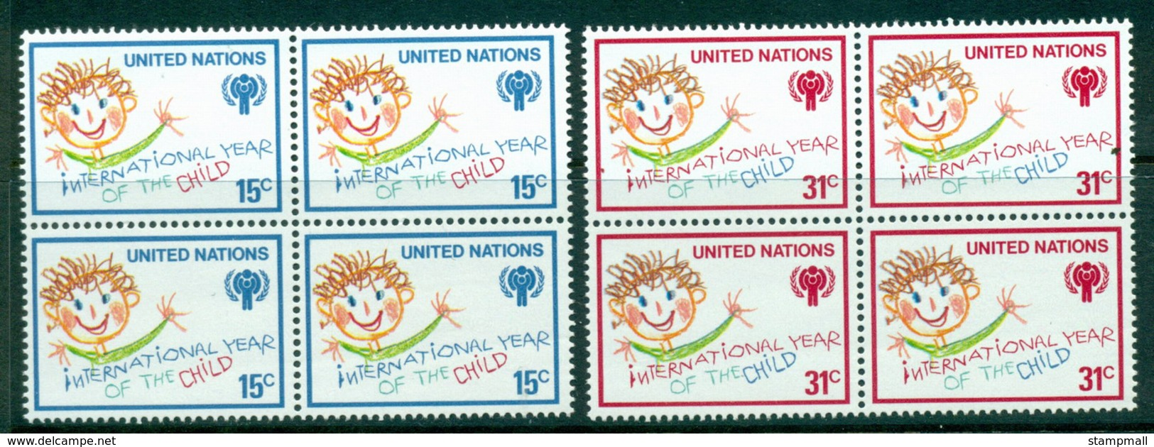 UN New York 1979 IYC Intl. Year Of The Child Blk 4 MUH Lot41024 - New York -  VN Hauptquartier