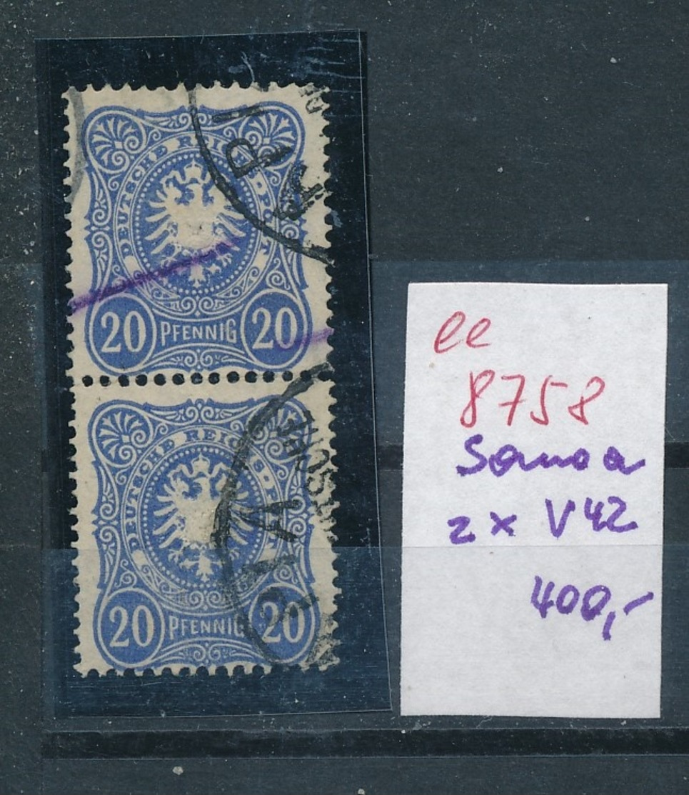 Samoa  Nr.  2x V42     (ee8758  ) Siehe Scan - Colony: Samoa