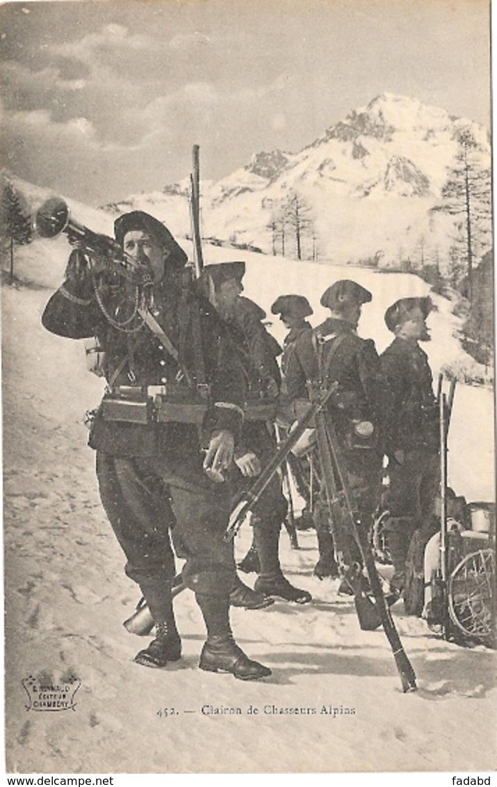 CLAIRONS DE CHASSEURS ALPINS  NON ECRIS - Guerre 1914-18