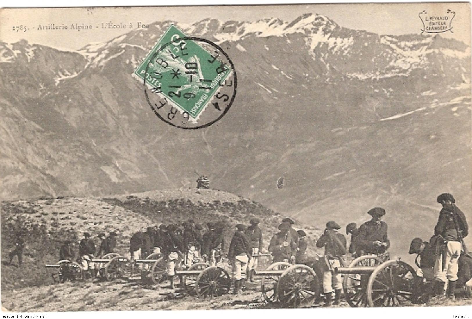 ARTILLERIE ALPINE L ECOLE A FEU ECRIS - War 1914-18
