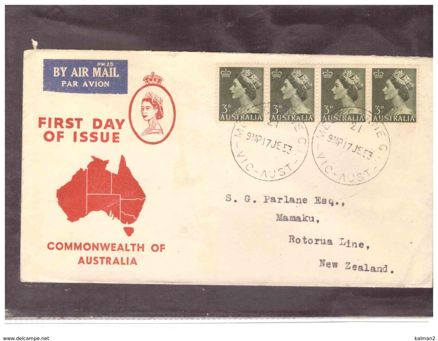 AUSFDC357   -  MELBOURNE  17.6.1954    /    FDC  MICHEL NR.  236 - Ersttagsbelege (FDC)