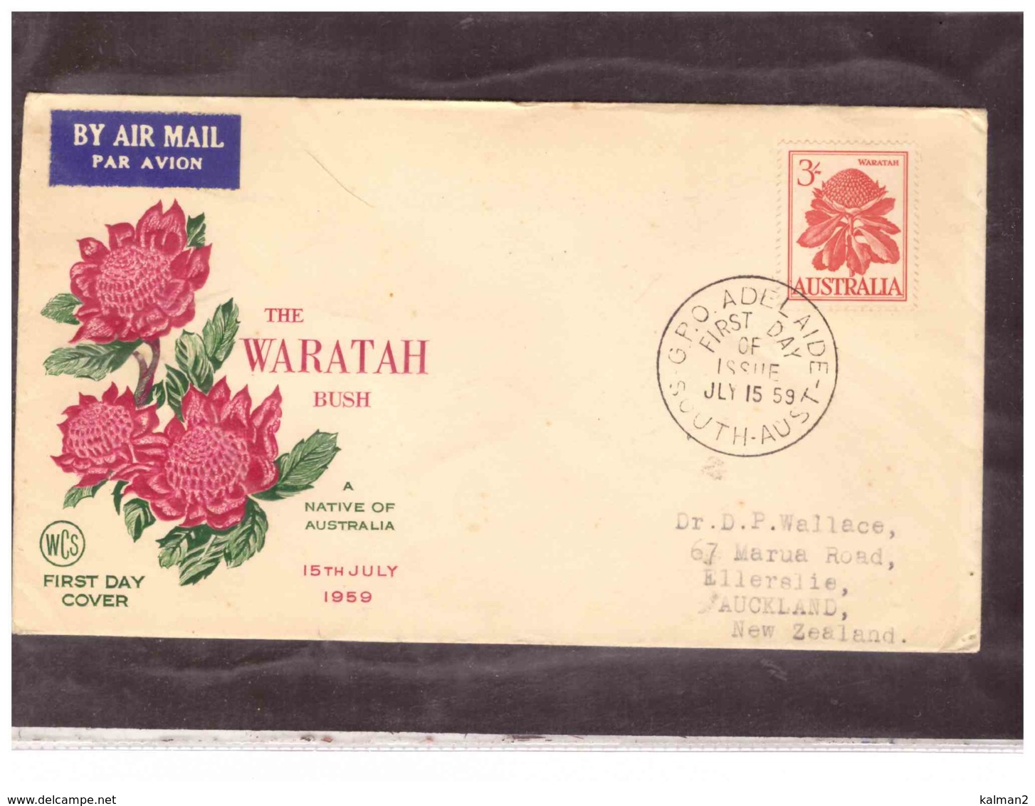 AUSFDC368    -     ADELAIDE  15.7.1959./    FDC  MICHEL NR.  302 - FDC