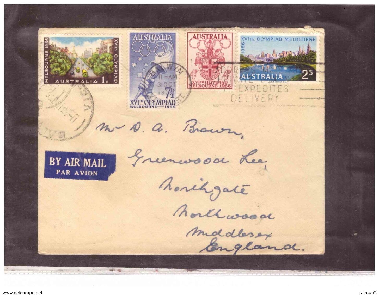 AUSFDC382    -    31.10.1956.     ./    FDC  MICHEL NR.   266/269 - Premiers Jours (FDC)
