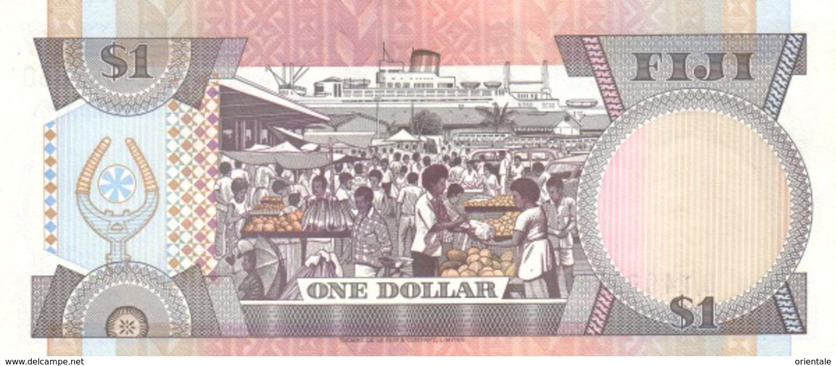 FIJI P.  89a 1 D 1993 UNC - Fidji