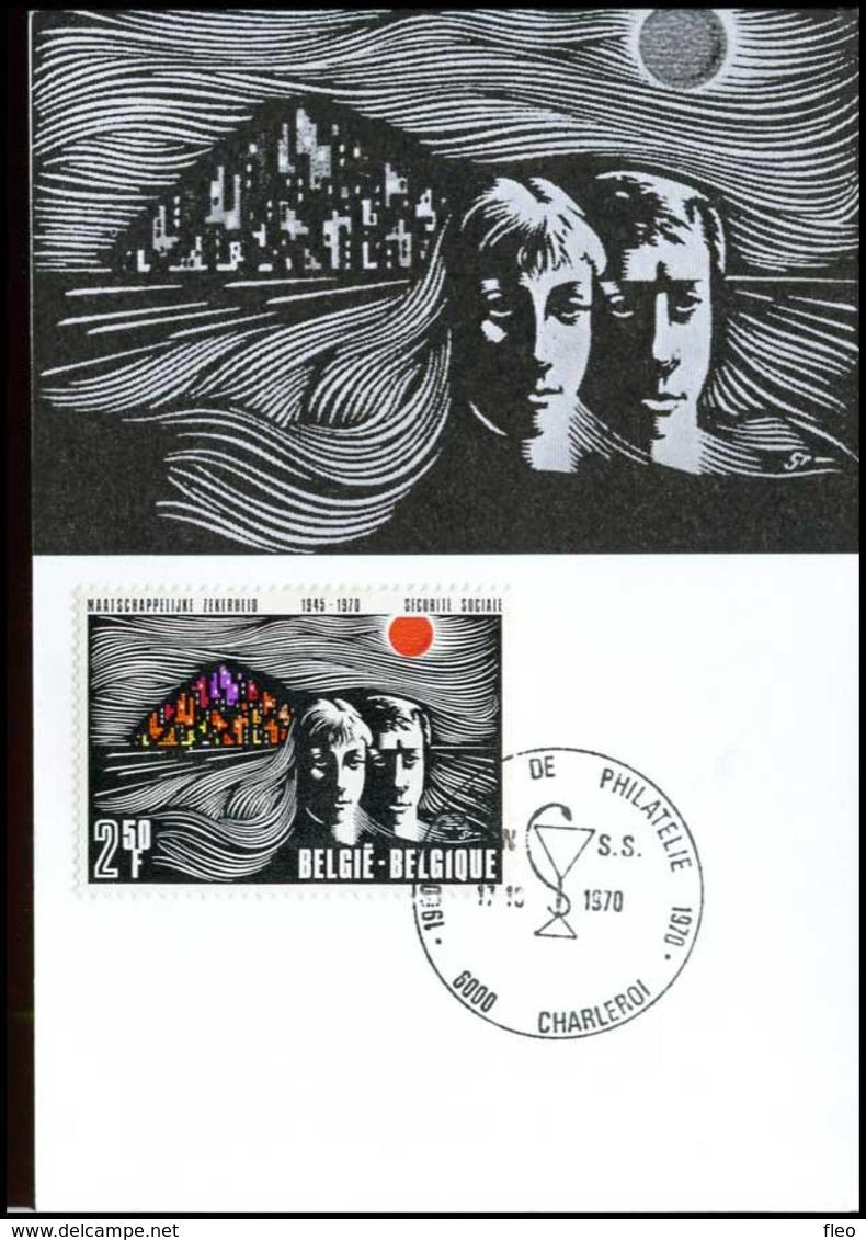 BELG.1970 1555 - MK - 25e Verjaardag Maatschappelijke Zekerheid-MC-- 25 Ans De La Sécurité Sociale En Belgique - FDC