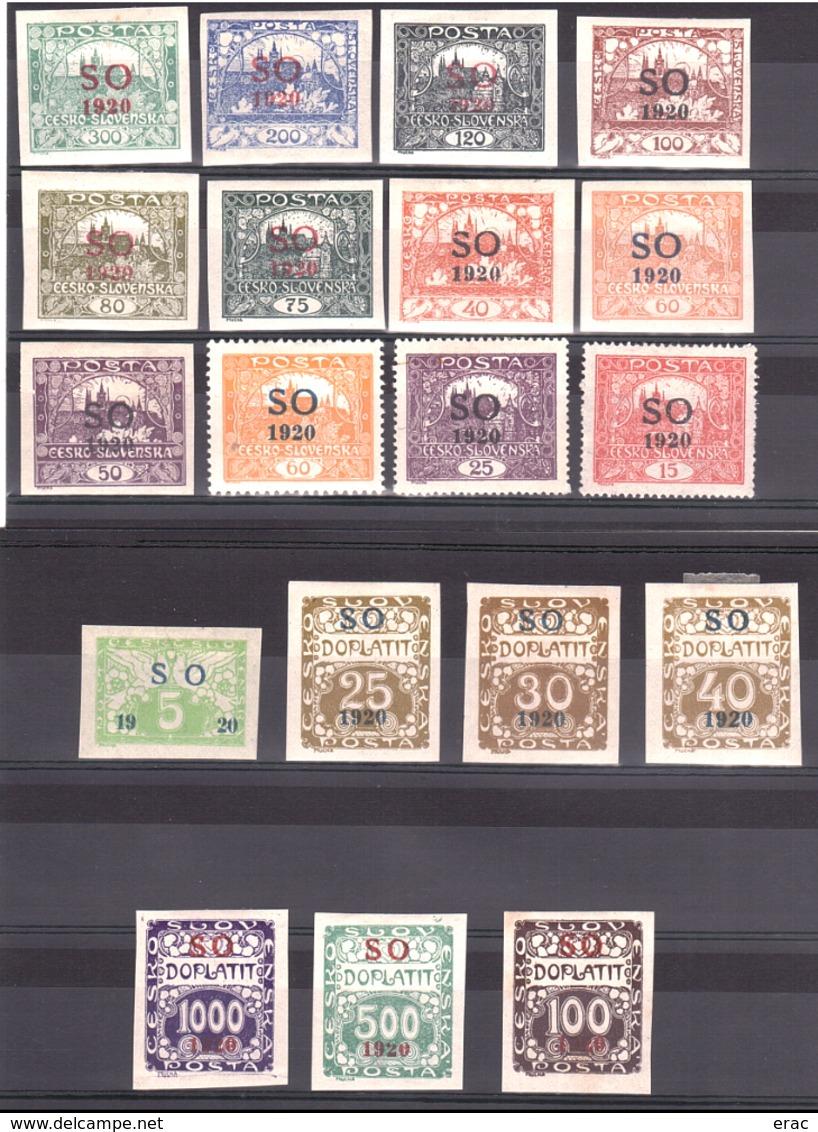 Silésie Orientale - 1920 - Lot De Timbres Neufs * - Cote 40 - Silésie (Haute & Orientale)