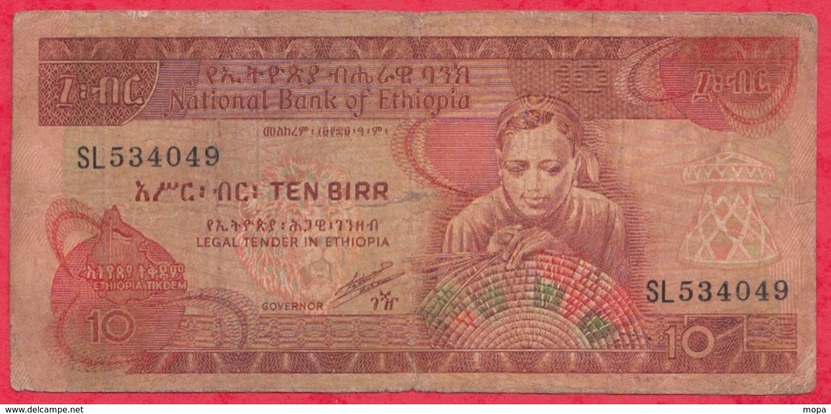 Ethiopie 10 Birr 1991 ---G/TB+ - Ethiopie