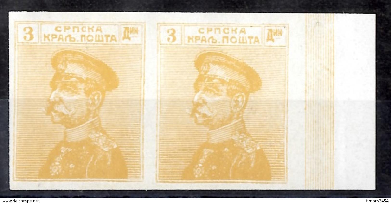 Serbie YT N° 124 En Paire Non Dentelés Neufs ** MNH. Rare! TB. A Saisir! - Serbia