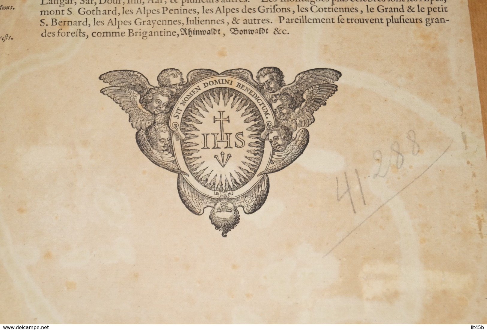 Carte Mercator,Original Antique Coloration Gravure Sur Cuivre,Helvetia,56 Cm./46 Cm,très Bel état De Collection - Geographical Maps