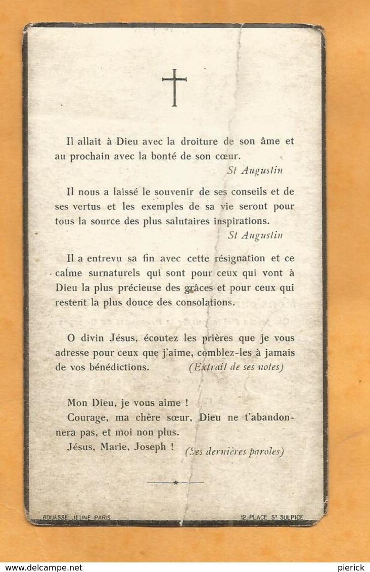 CARTE MORTUAIRE GENEALOGIE FAIRE PART DECES ABBE BEAUDET BOURGES FLERE LA RIVIERE 1875 1937 - Décès
