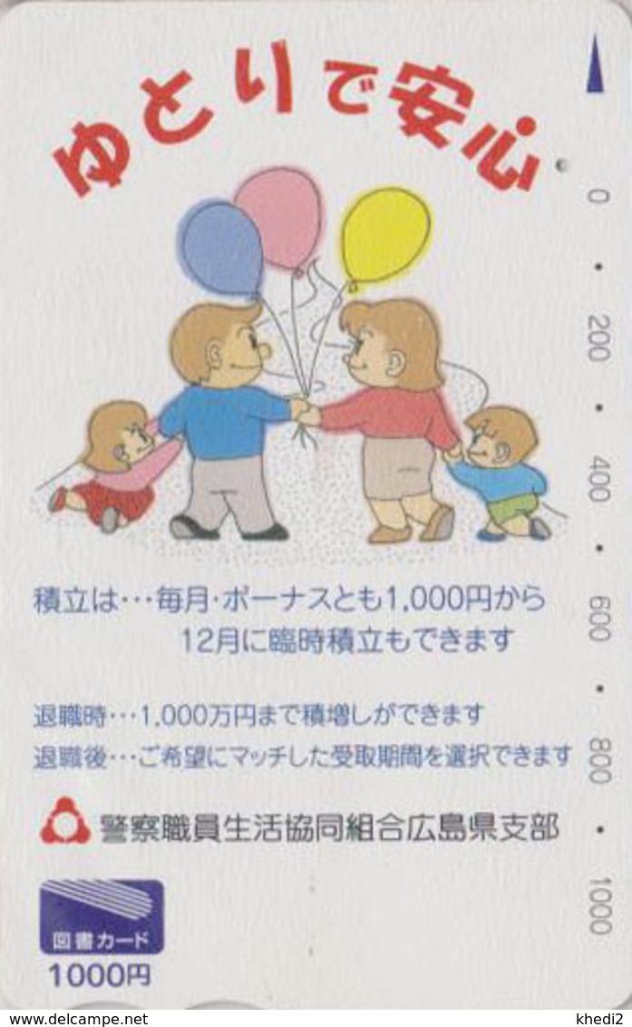 Carte Prépayée Japon - Jeu D'enfant BALLON & Enfants - Balloon & Children Japan Prepaid Tosho Card / Assu - 165 - Jeux
