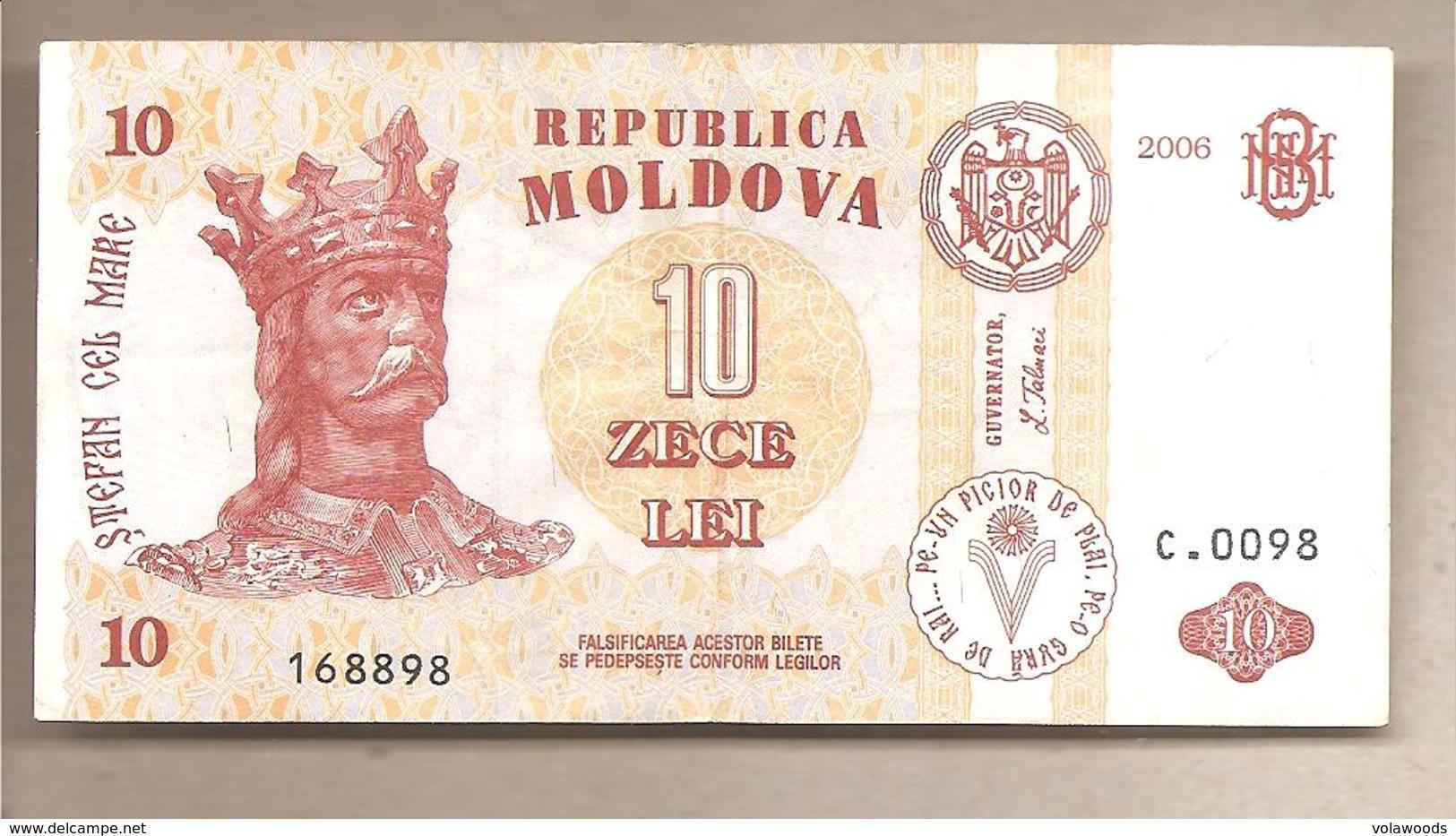 Moldavia - Banconota Circolata Da 10 Leu P-10e - 2006 - Moldova