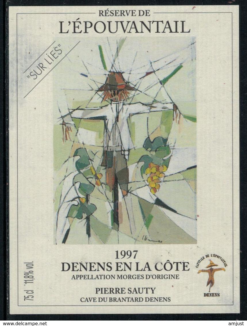 Rare // Etiquette De Vin // Epouventail  // Denens, L'Epouvantable - Etiquettes