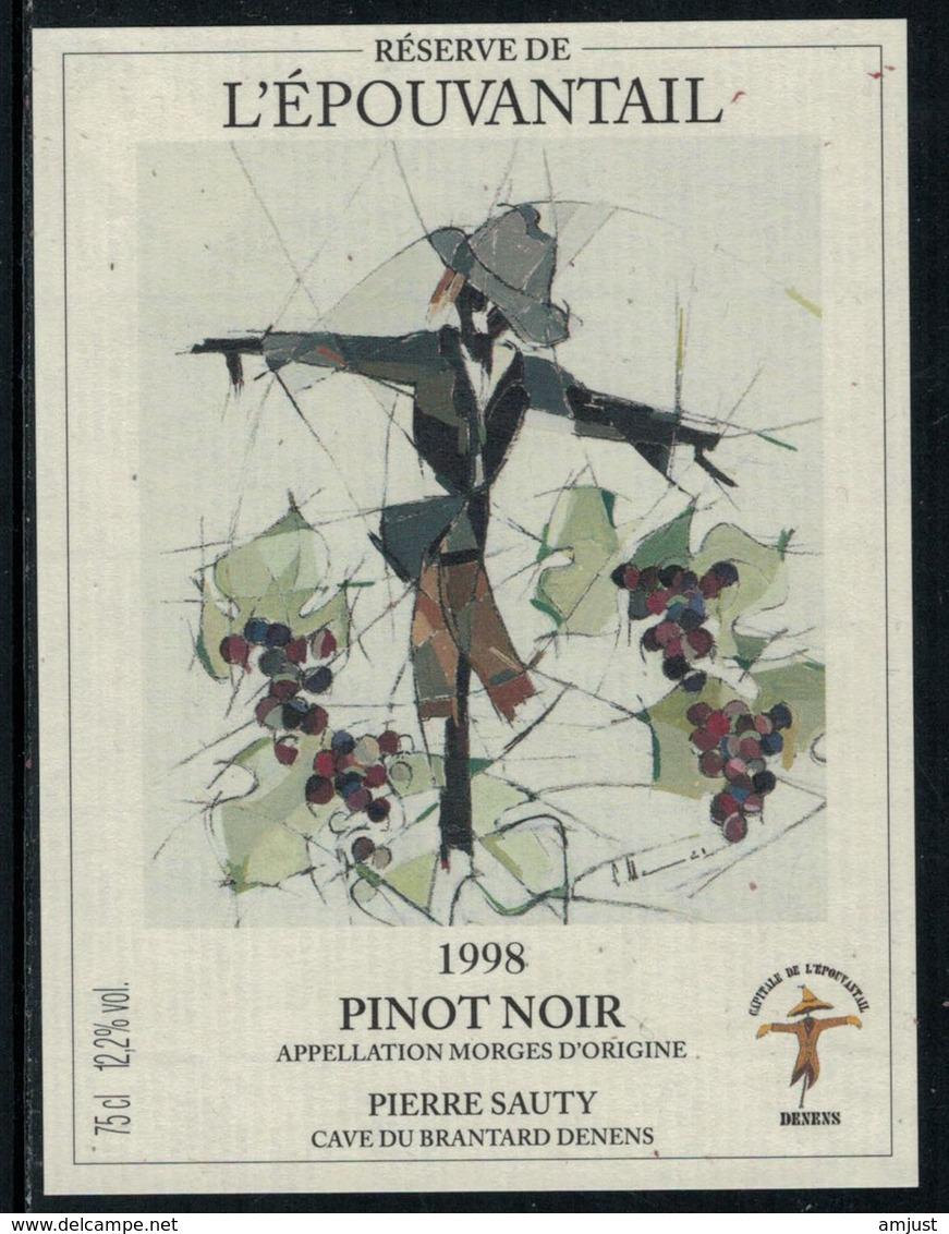 Rare // Etiquette De Vin // Epouventail  // Pinot Noir, L'Epouvantable - Etiquettes
