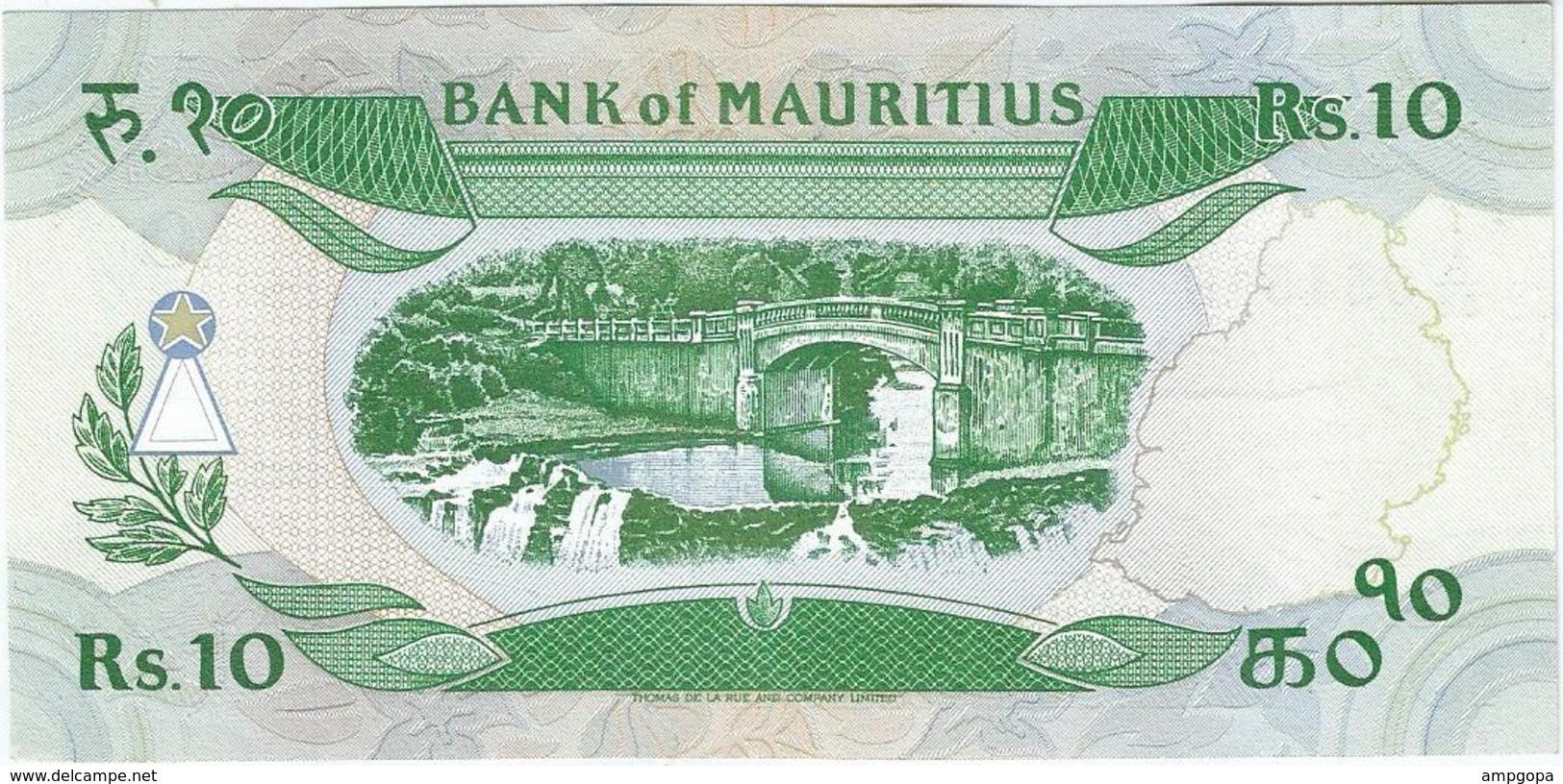 Mauricio - Mauritius 10 Rupees 1987 Pick 35 UNC - Maurice