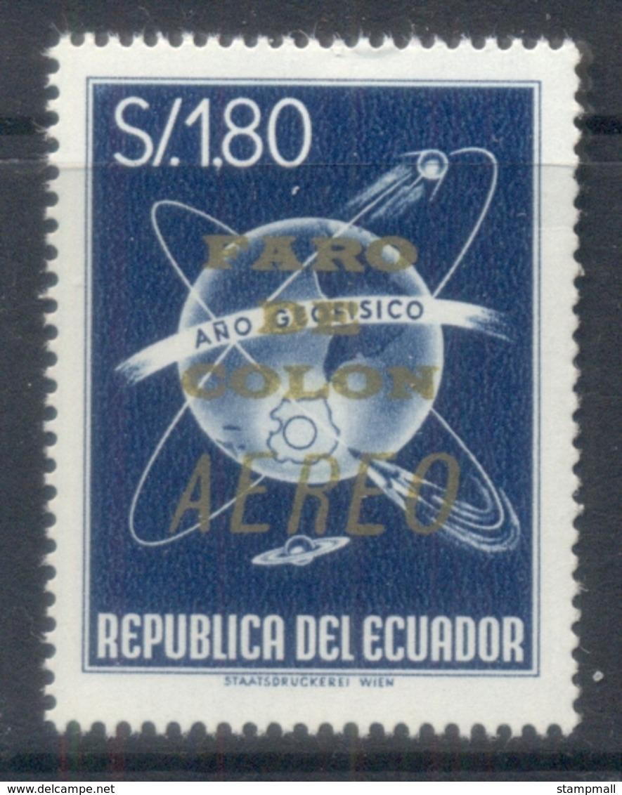 Ecuador 1964 Airmail, Faro De Colon Opt MUH - Ecuador