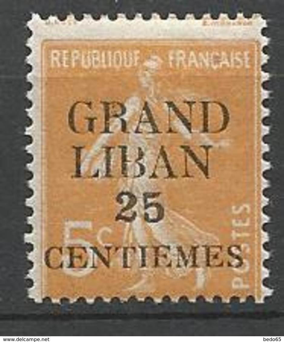 GRAND LIBAN  N° 2  NEUF** LUXE SANS CHARNIERE / MNH - Great Lebanon (1924-1945)