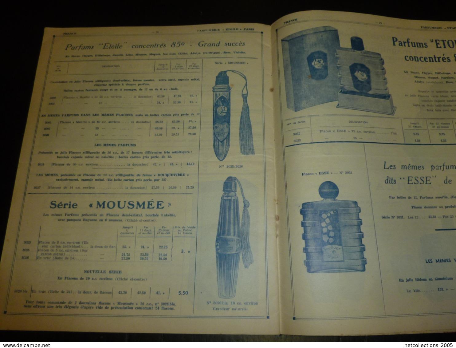 """CATALOGUE De 1939 PARFUMERIE FRANCAISE """" ETOILE """" ETABLISSEMENTS J.THOMAS, GUINAMAND & Cie SAINT-ETIENNE-TERRENOIRE (AD) - Catalogues"""