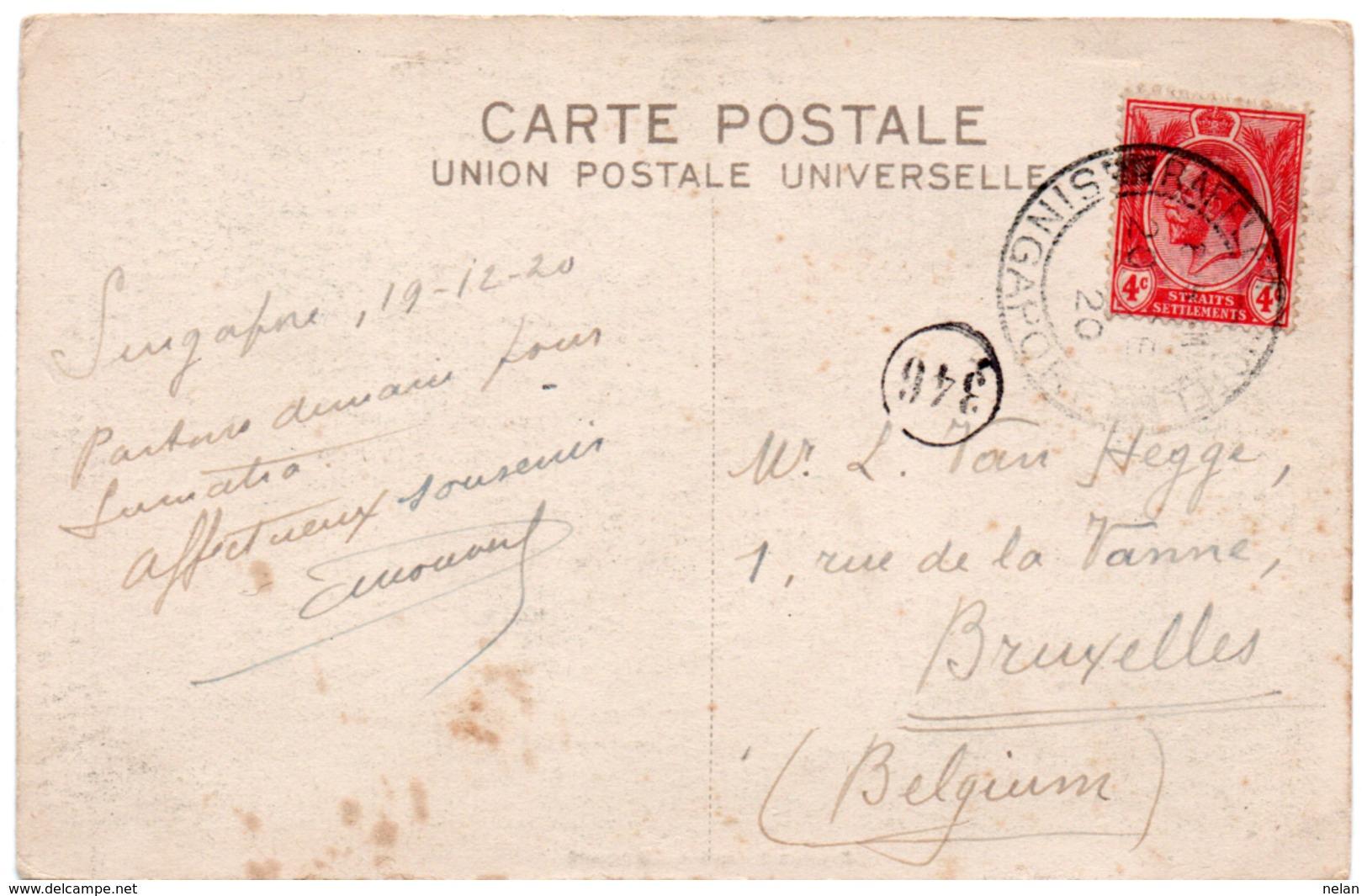 BOTANICAL GARDEN-SINGAPORE-1920 - Singapore