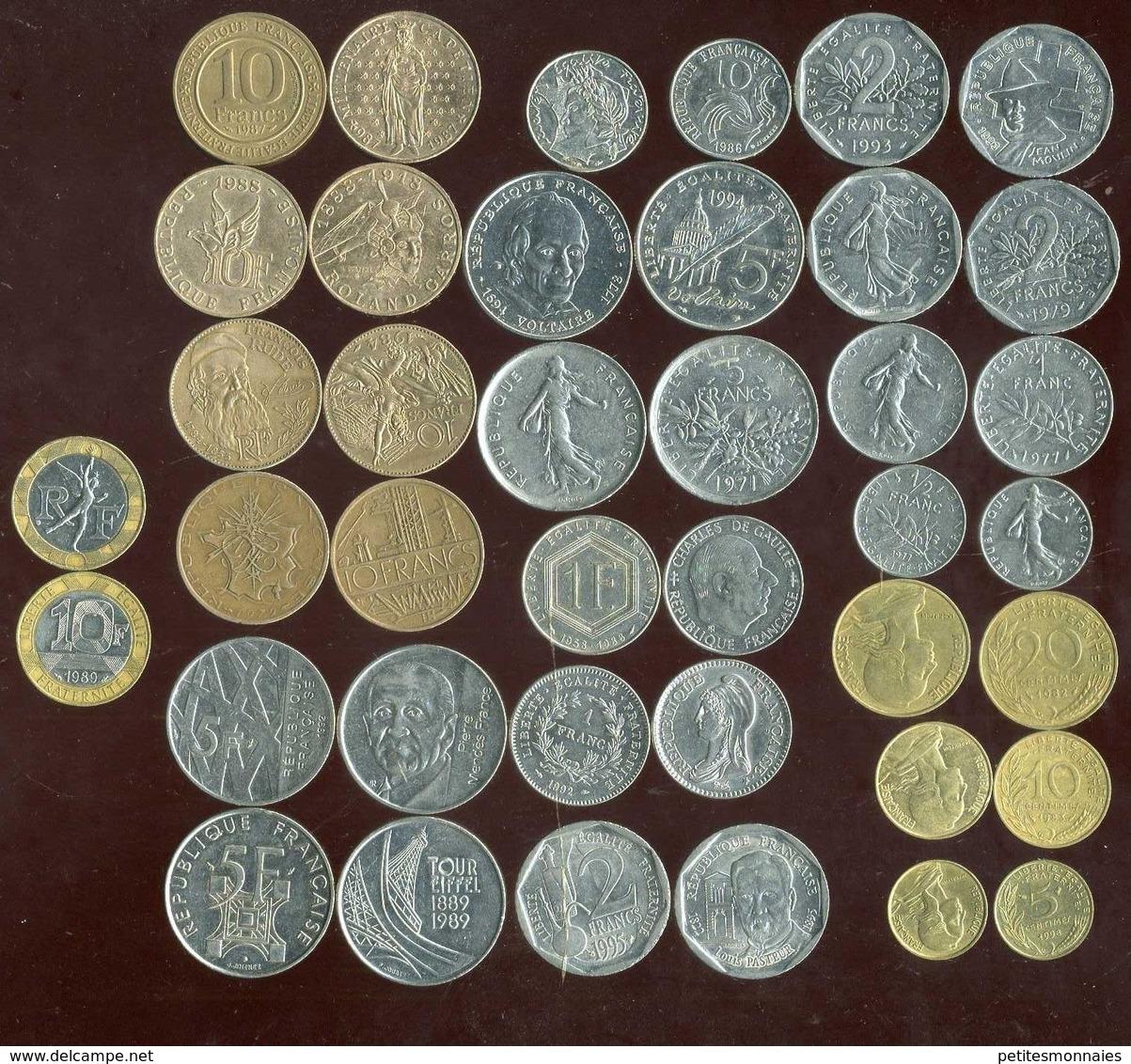 LOT De 20 Pieces Avant L'euro ( Avec Commémorative ) - Kilowaar - Munten