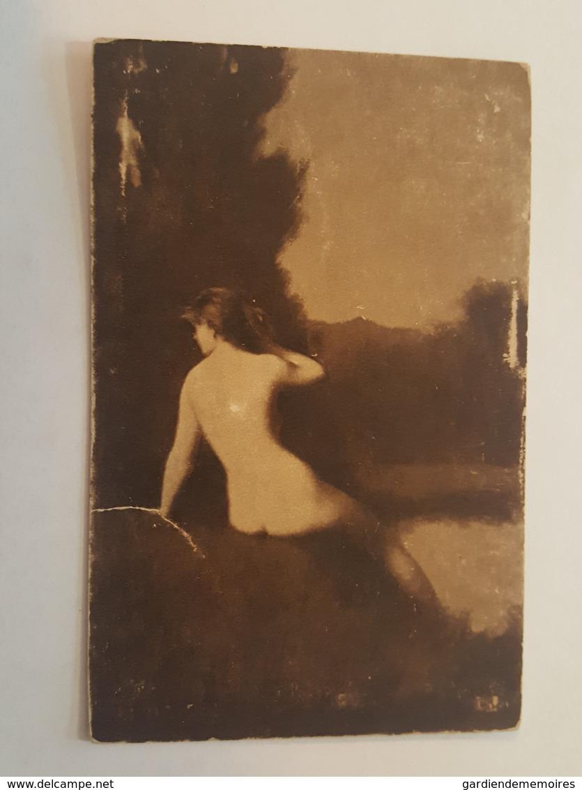 Art - J.J. Henner, The Listening Nymph, Métropolitan Museum New York - Femme Nu - Erotisme, Erotique, Erotica, Sexy - Tableaux