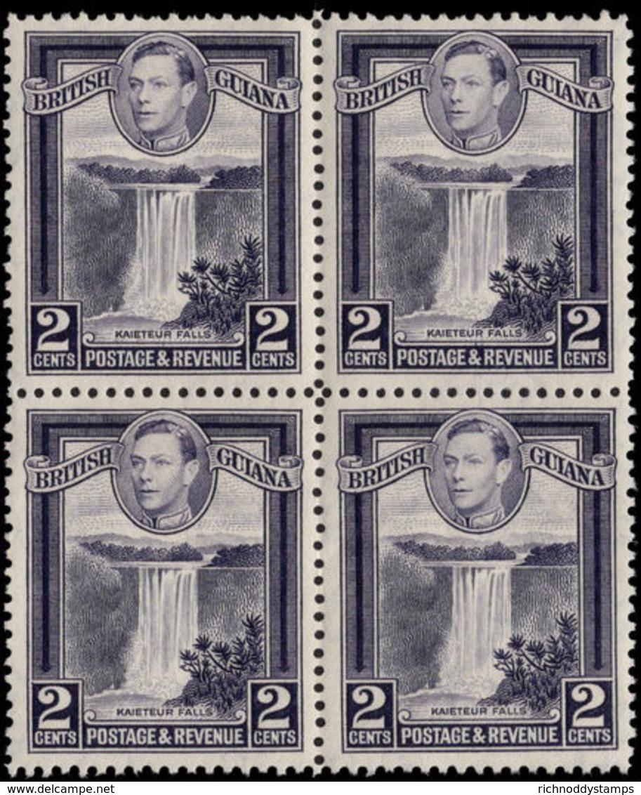 British Guiana 1938-52 2c Slate-violet Perf 12½ Block Of 4 Unmounted Mint. - British Guiana (...-1966)