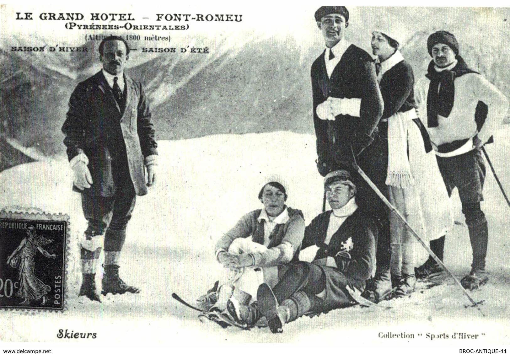 CPA N°24489 - LE GRAND HOTEL - FONT ROMEU - SAISON D' HIVER - SAISON D' ETE - REPRODUCTION - Autres Communes