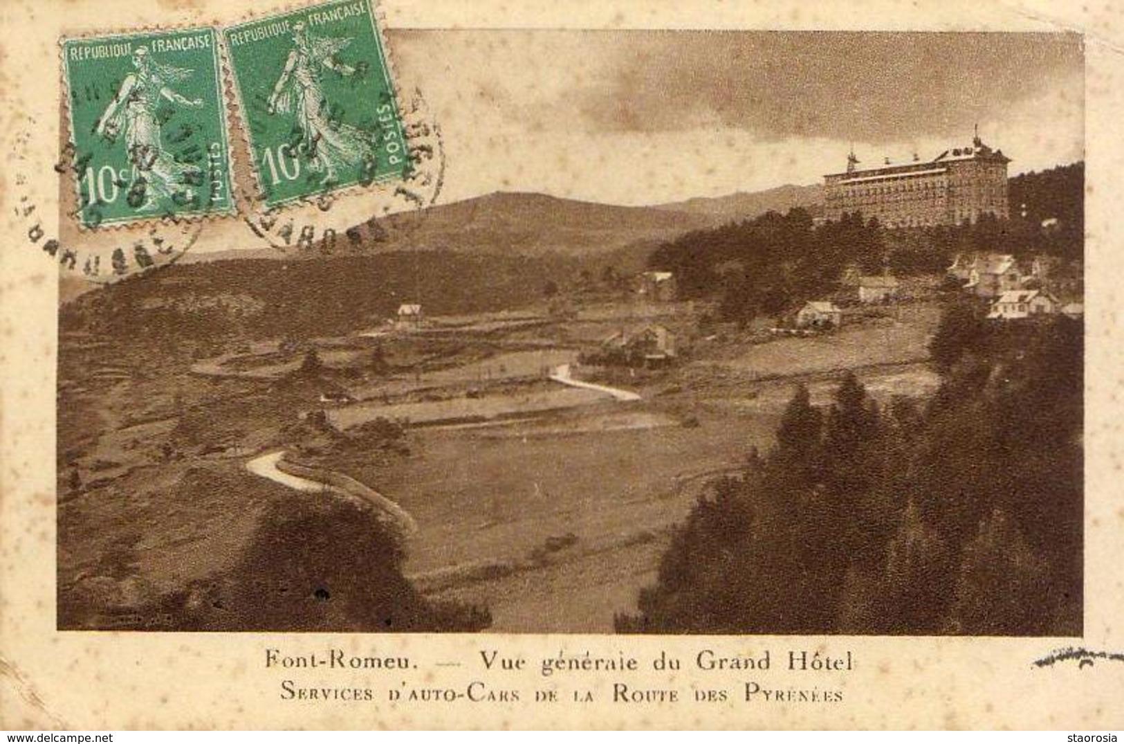 D66  FONT ROMEU  Vue Générale Du Grand- Hôtel  ... - Autres Communes