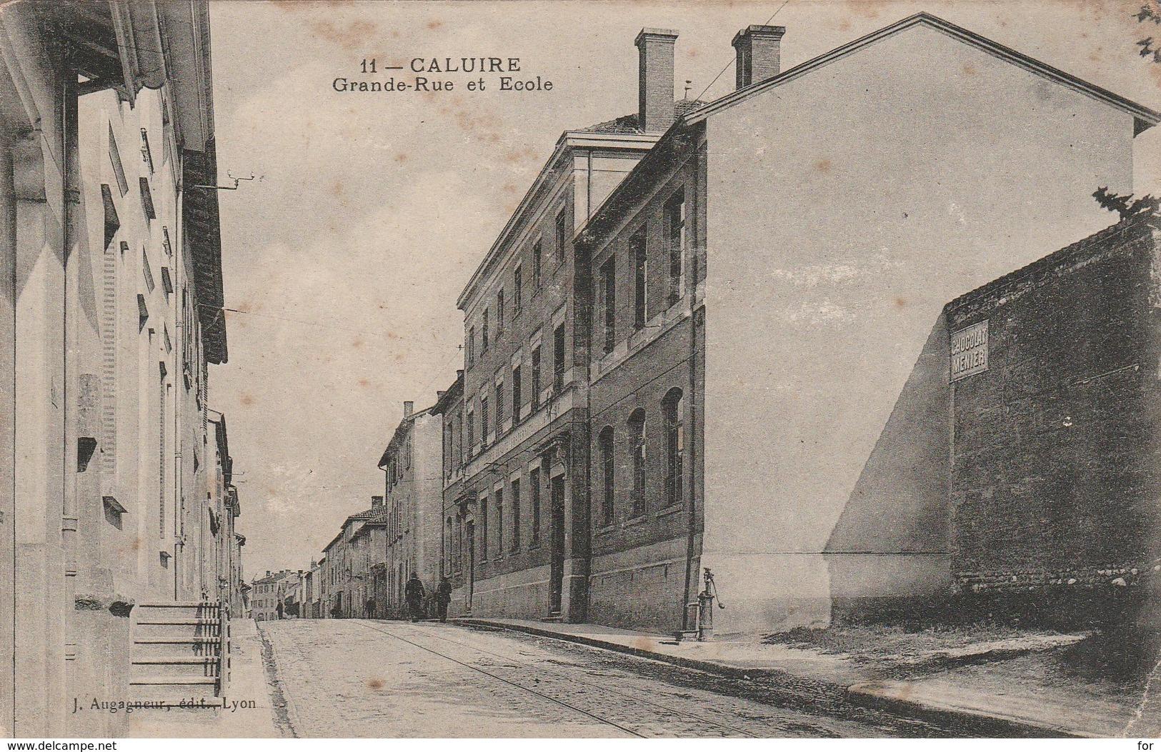 Rhone : CALUIRE : Grande-rue Et école - Caluire Et Cuire
