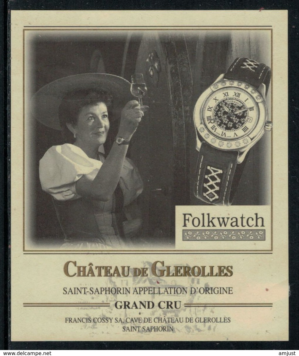 Rare // Etiquette De Vin // Montres  // St.Saphorin, Montre Folkwatch - Etiquettes