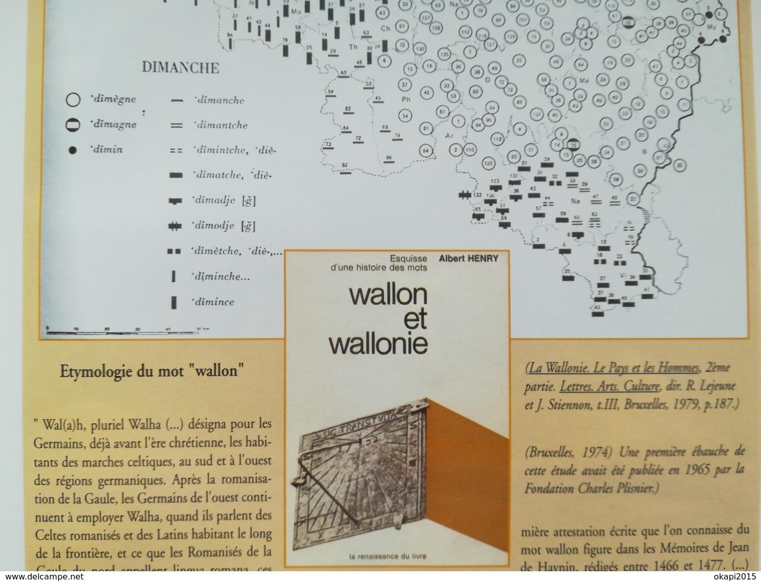 LA WALLONIE SON HISTOIRE PAR HERVÉ HASQUIN LIVRE RÉGIONALISME BELGIQUE WALLONIE - Culture