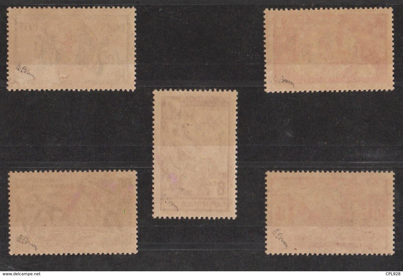 Etabl. Français Dans L'Inde N° 230 X à 230 BB Signés A. BRUN Cote: 1 750€ - Used Stamps