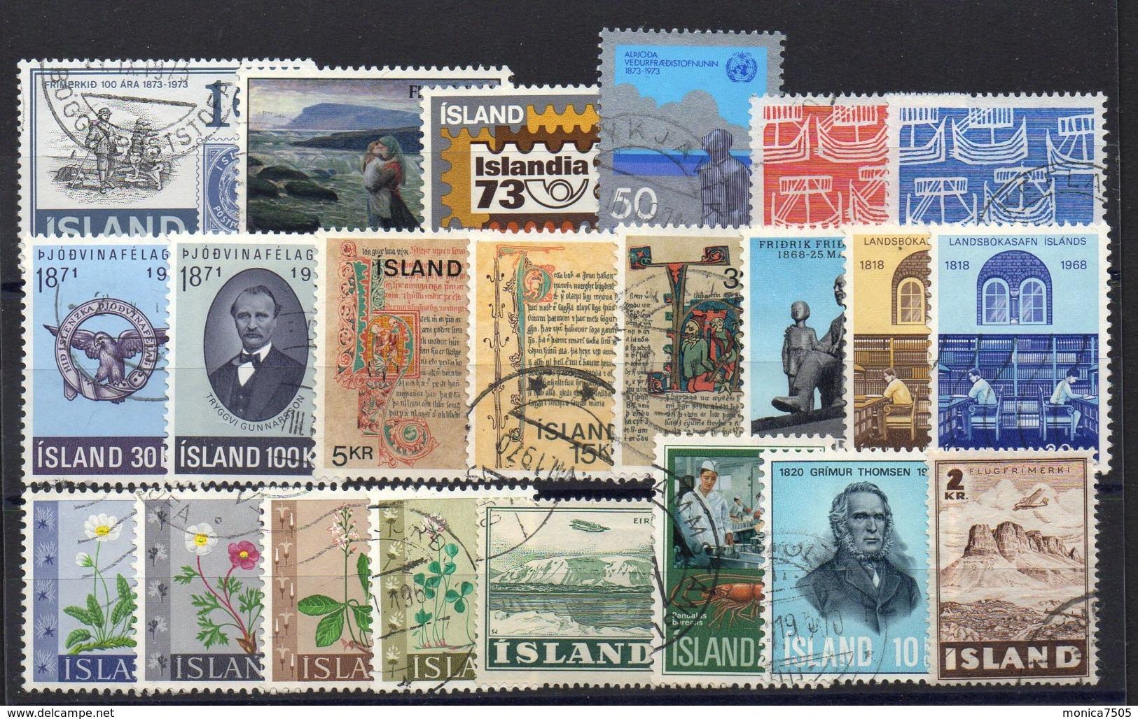 ISLANDE ( LOT ) : PETIT  LOT  DE  TIMBRES  TRES  BIEN  OBLITERES . - Collections, Lots & Séries