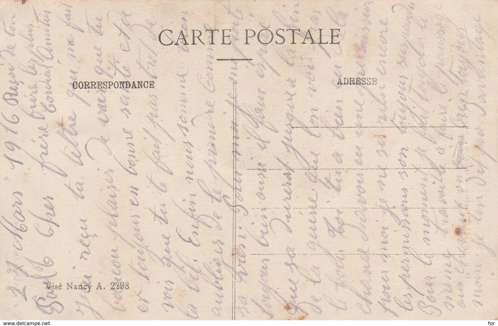 Meurthe-et-moselle : REMEREVILLE : Rue Principale - Théatre De Violents Combats ( Militaria - GUERRE 1914-18 ) - Frankrijk