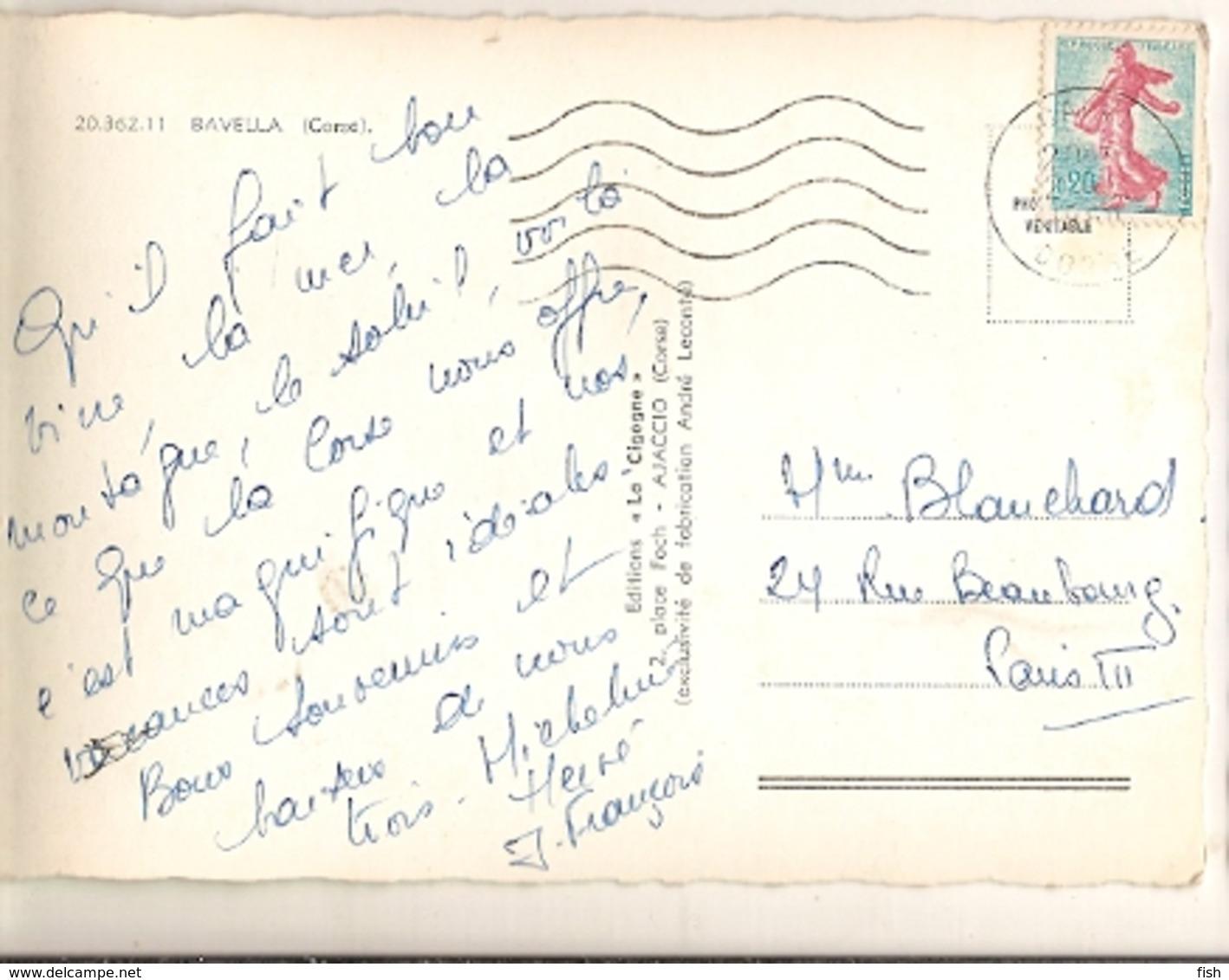 France & Circulated, Bavella, Corse,Statue De Notre-Dame Des Neiges, Calvi, Paris 1960 (2036211) - Monuments