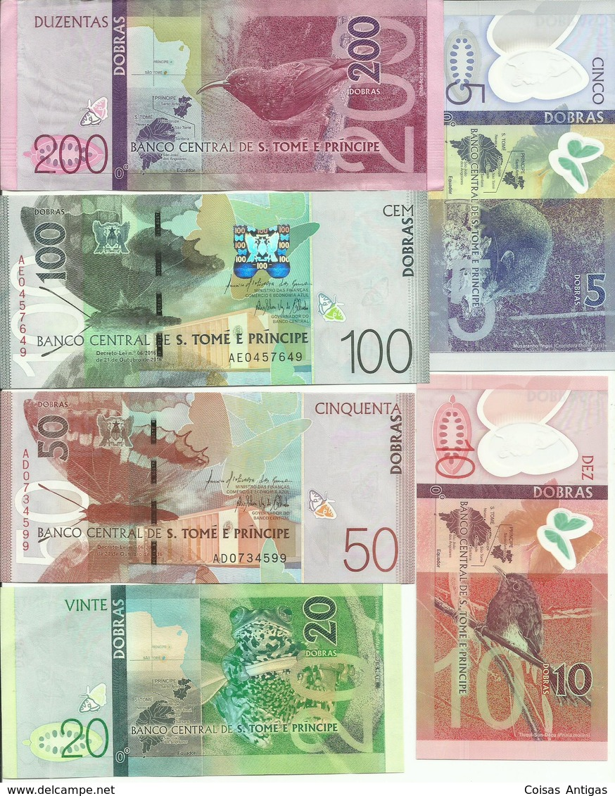 Serie Completa Notas 2016 S. Tomé E Principe - Sao Tomé Et Principe