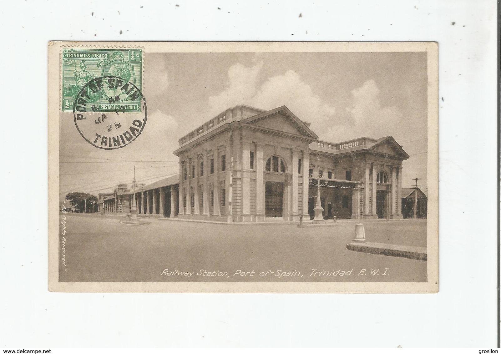 TRINIDAD RAILWAY STATION PORT OF SPAIN B W I - Trinidad