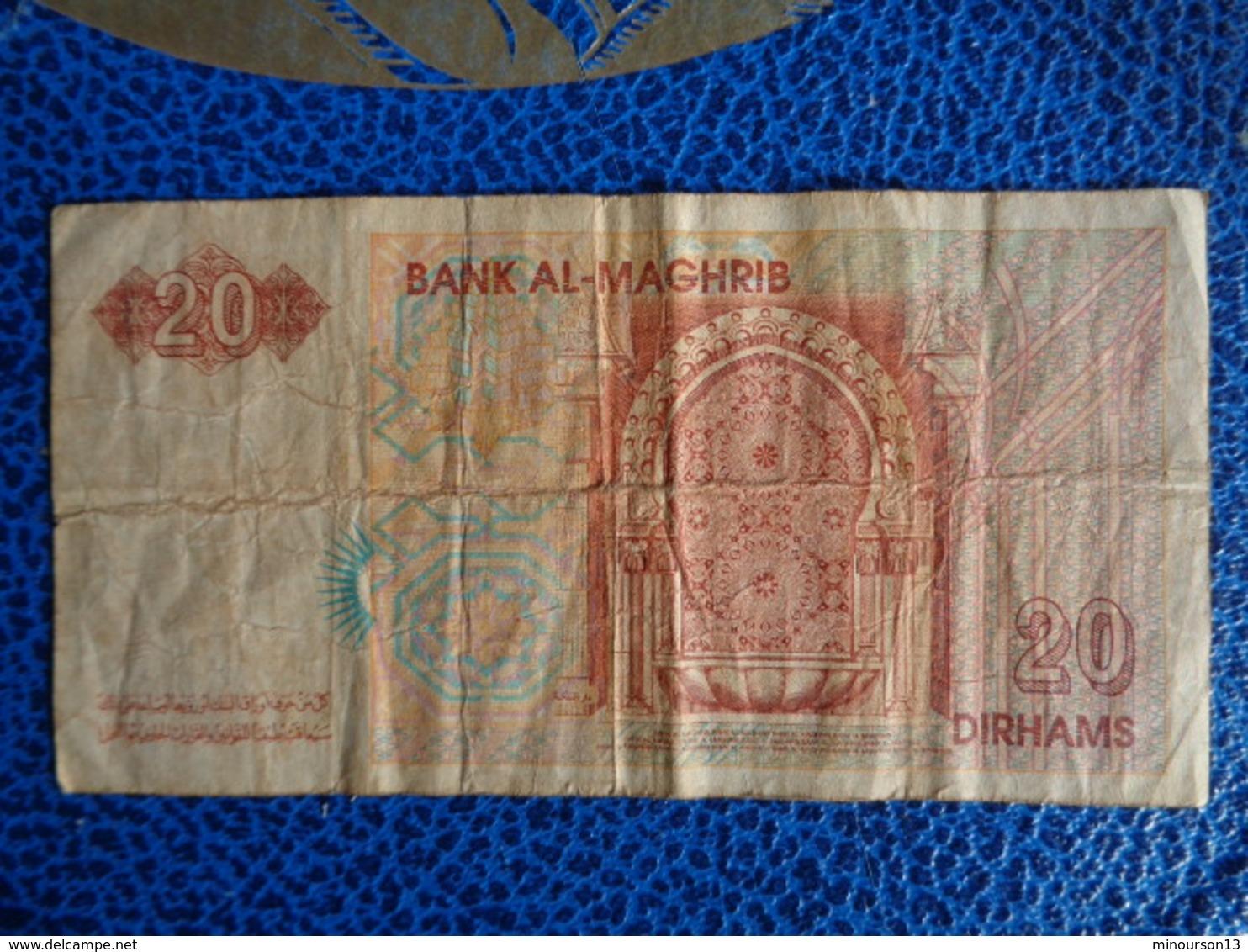 BILLET 20 DIRHAMS BANK AL MAGHRIB - Maroc