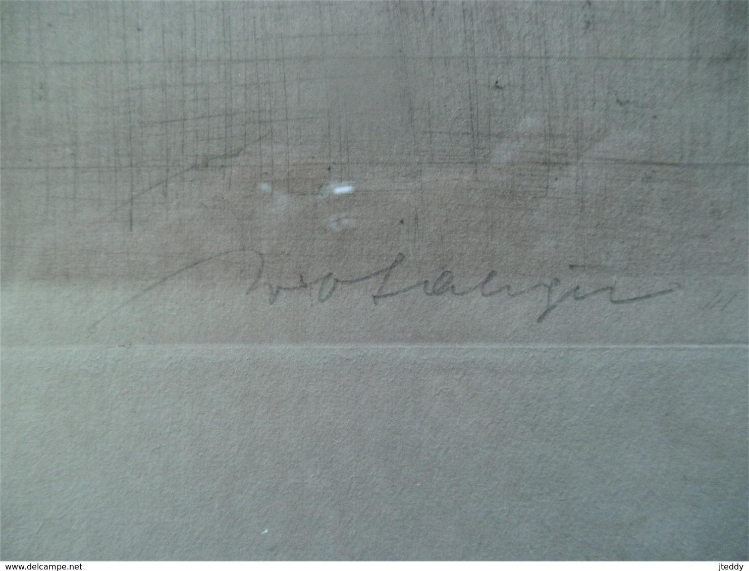 Oude ETS  ' De Fluitspeler  Gesigneerd - Lithographies