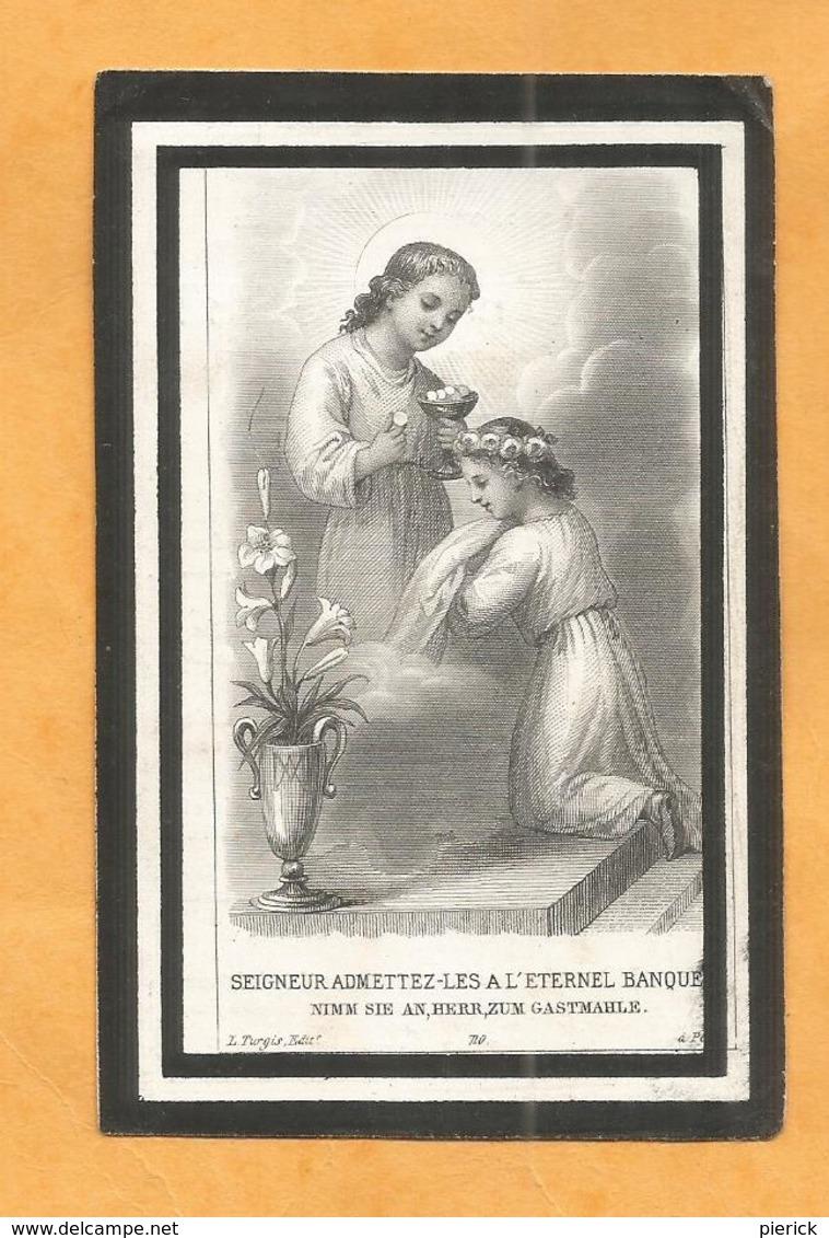 CARTE MORTUAIRE GENEALOGIE FAIRE PART DECES MUSSET FONDJOUAN 1877 1886 MUR DE SOLOGNE - Décès