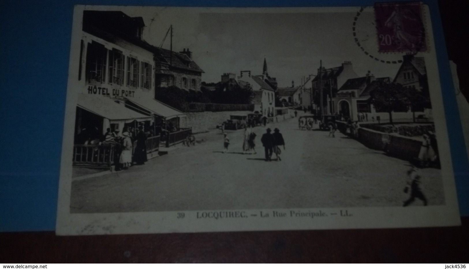 Carte Postale Ancienne - Circulé - Dép. 29 - LOCQUIREC  - Rue Principale - Locquirec
