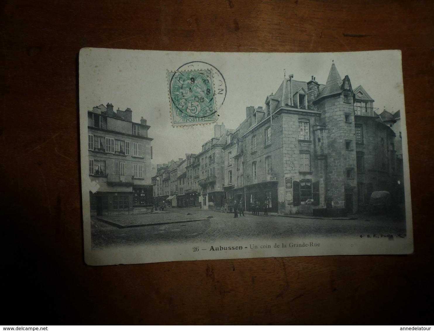 CPA  : AUBUSSON - Un Coin De La Grande Rue - Aubusson
