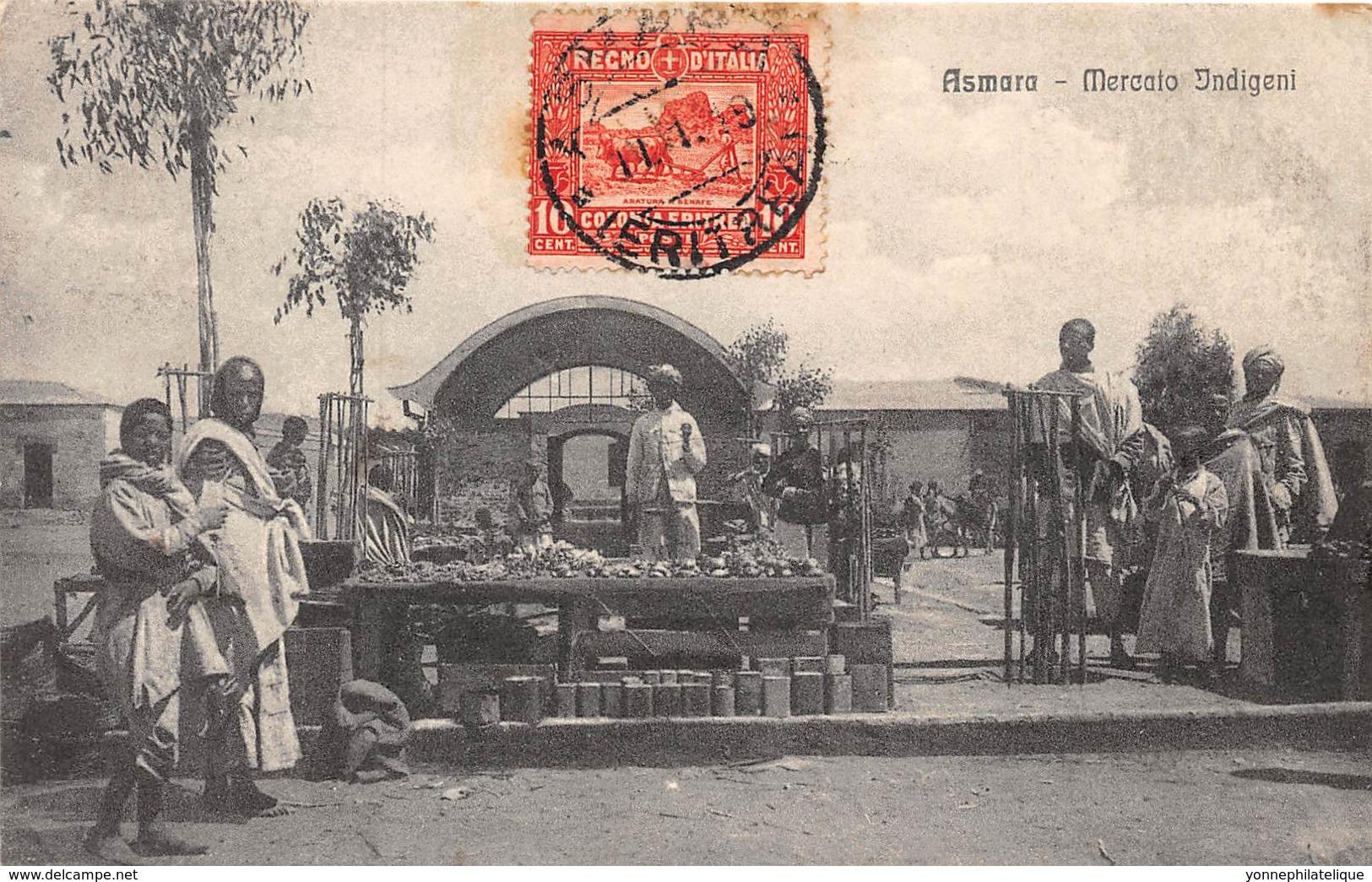 Erythrée / Topo - 40 - Asmara - Mercato Indigeni - Belle Oblitération - Erythrée