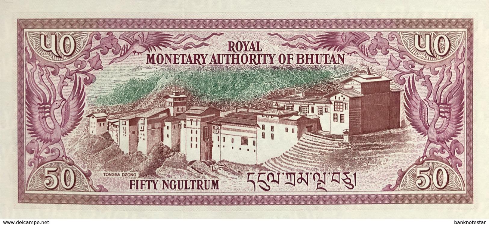 Bhutan 50 Ngultrum, P-17b (1992) - UNC - Bhoutan
