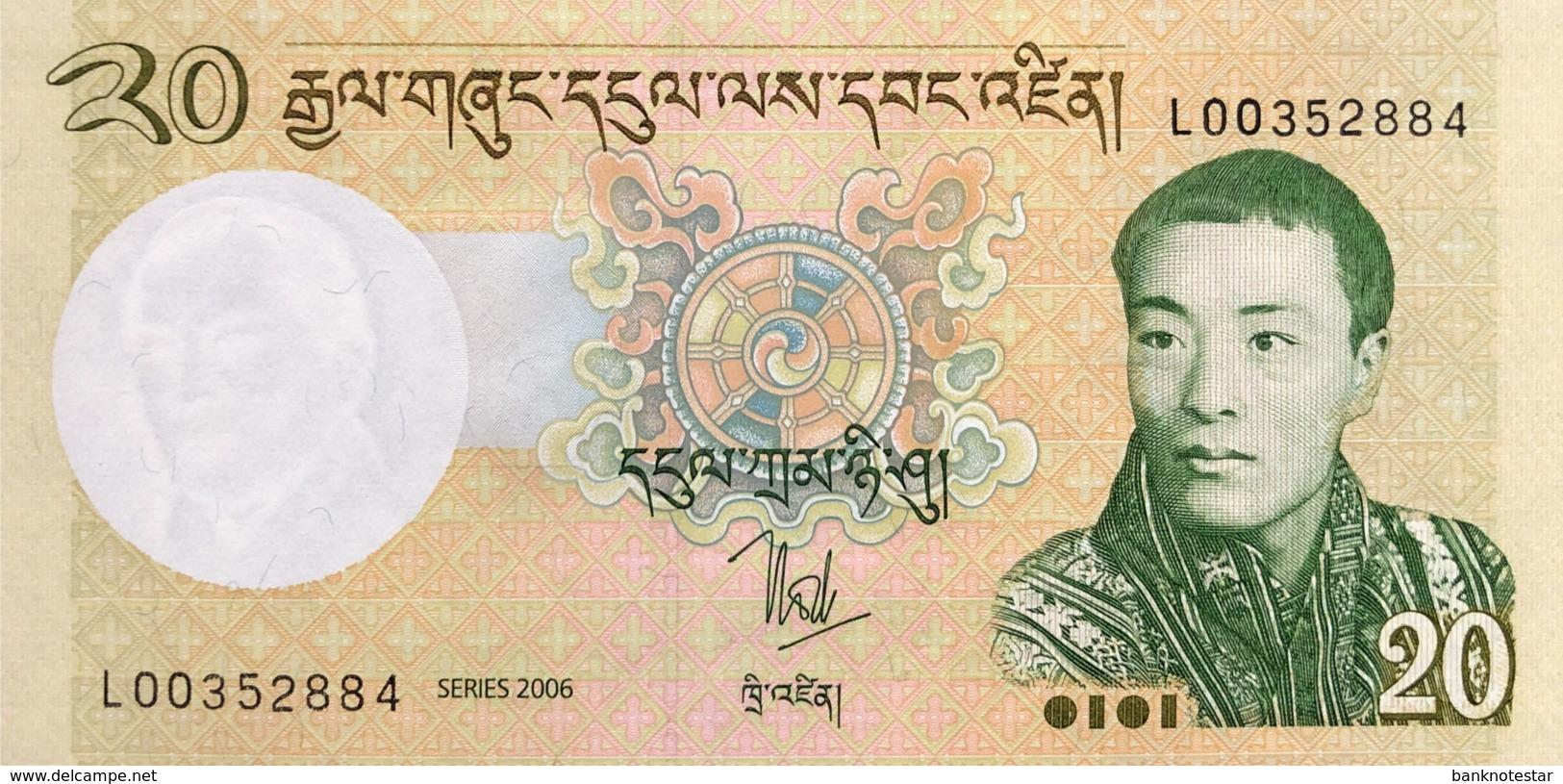 Bhutan 20 Ngultrum, P-30 (2006) - UNC - Bhoutan